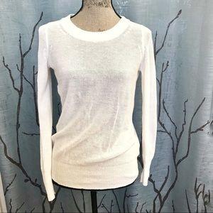 J. Crew white knit sweater